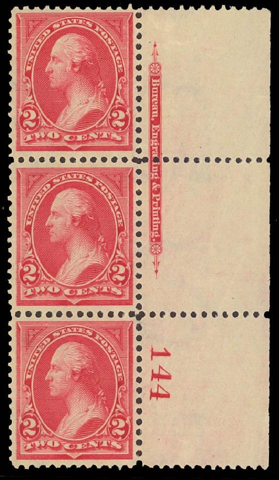 US Stamp Price Scott Catalogue # 265 - 1895 2c Washington. Daniel Kelleher Auctions, Sep 2013, Sale 639, Lot 3357