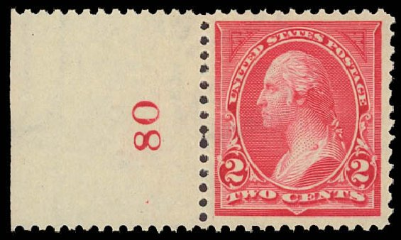 US Stamp Value Scott 265: 2c 1895 Washington. Daniel Kelleher Auctions, Aug 2012, Sale 631, Lot 970