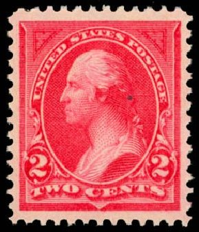 Values of US Stamps Scott Cat. 265: 1895 2c Washington. Daniel Kelleher Auctions, May 2014, Sale 653, Lot 2180