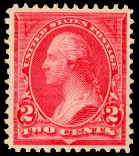 US Stamps Prices Scott Cat. #265 - 2c 1895 Washington. Daniel Kelleher Auctions, Mar 2014, Sale 648, Lot 2114