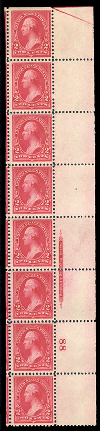 Cost of US Stamps Scott Cat. #265 - 1895 2c Washington. Cherrystone Auctions, Oct 2012, Sale 201210, Lot 115