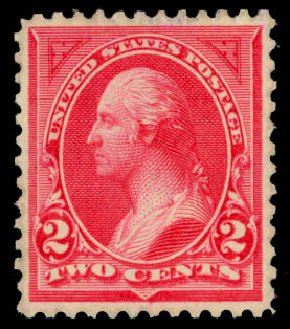 US Stamps Price Scott Catalogue 265: 2c 1895 Washington. Daniel Kelleher Auctions, Jan 2015, Sale 663, Lot 1533
