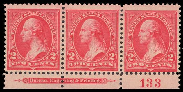 Costs of US Stamp Scott #266: 1895 2c Washington. Daniel Kelleher Auctions, Apr 2013, Sale 636, Lot 217