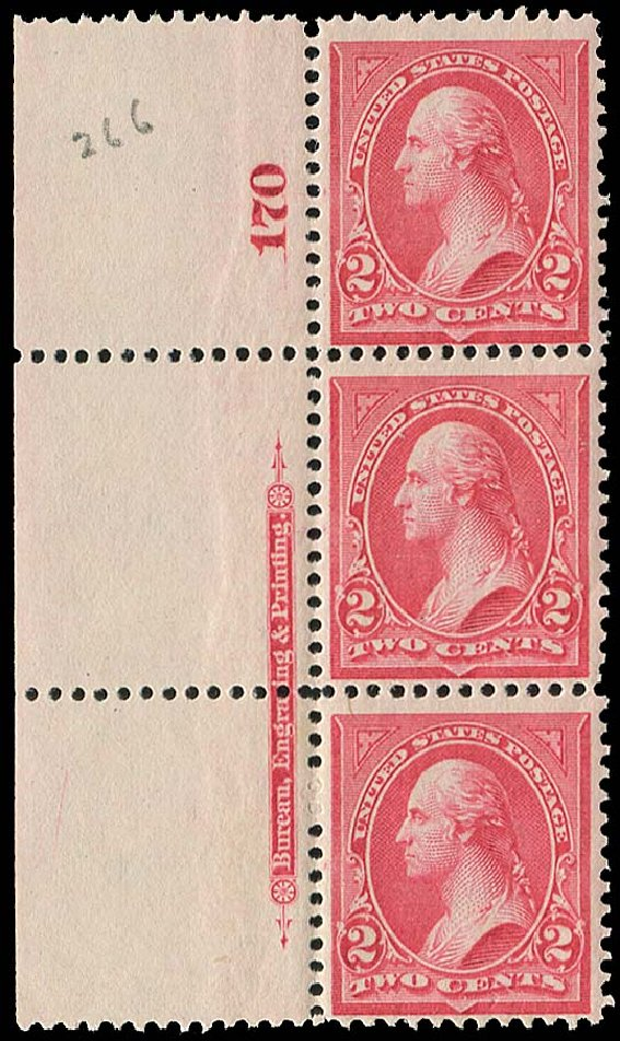 Prices of US Stamp Scott Cat. 266: 2c 1895 Washington. Regency-Superior, Aug 2015, Sale 112, Lot 537