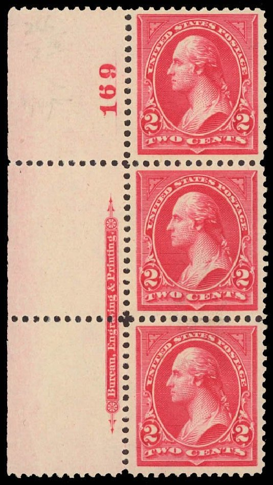 Price of US Stamp Scott Cat. #266 - 1895 2c Washington. Daniel Kelleher Auctions, Sep 2013, Sale 639, Lot 3358