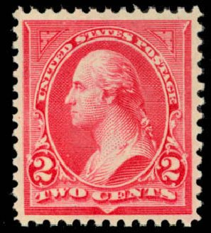 Price of US Stamps Scott Cat. # 266: 1895 2c Washington. Daniel Kelleher Auctions, Mar 2013, Sale 635, Lot 380