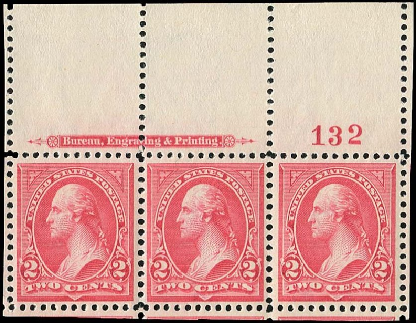 Value of US Stamps Scott Cat. # 266: 2c 1895 Washington. Regency-Superior, Nov 2014, Sale 108, Lot 540