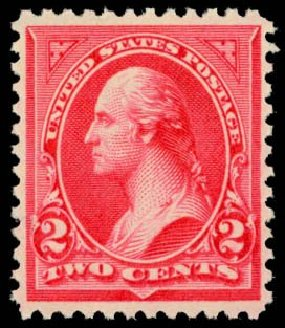 US Stamps Price Scott Catalogue 266 - 2c 1895 Washington. Daniel Kelleher Auctions, May 2014, Sale 653, Lot 2181