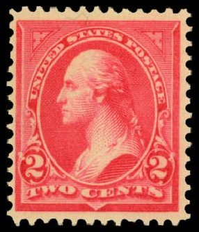 Prices of US Stamps Scott Cat. 266 - 1895 2c Washington. Daniel Kelleher Auctions, Dec 2014, Sale 661, Lot 235
