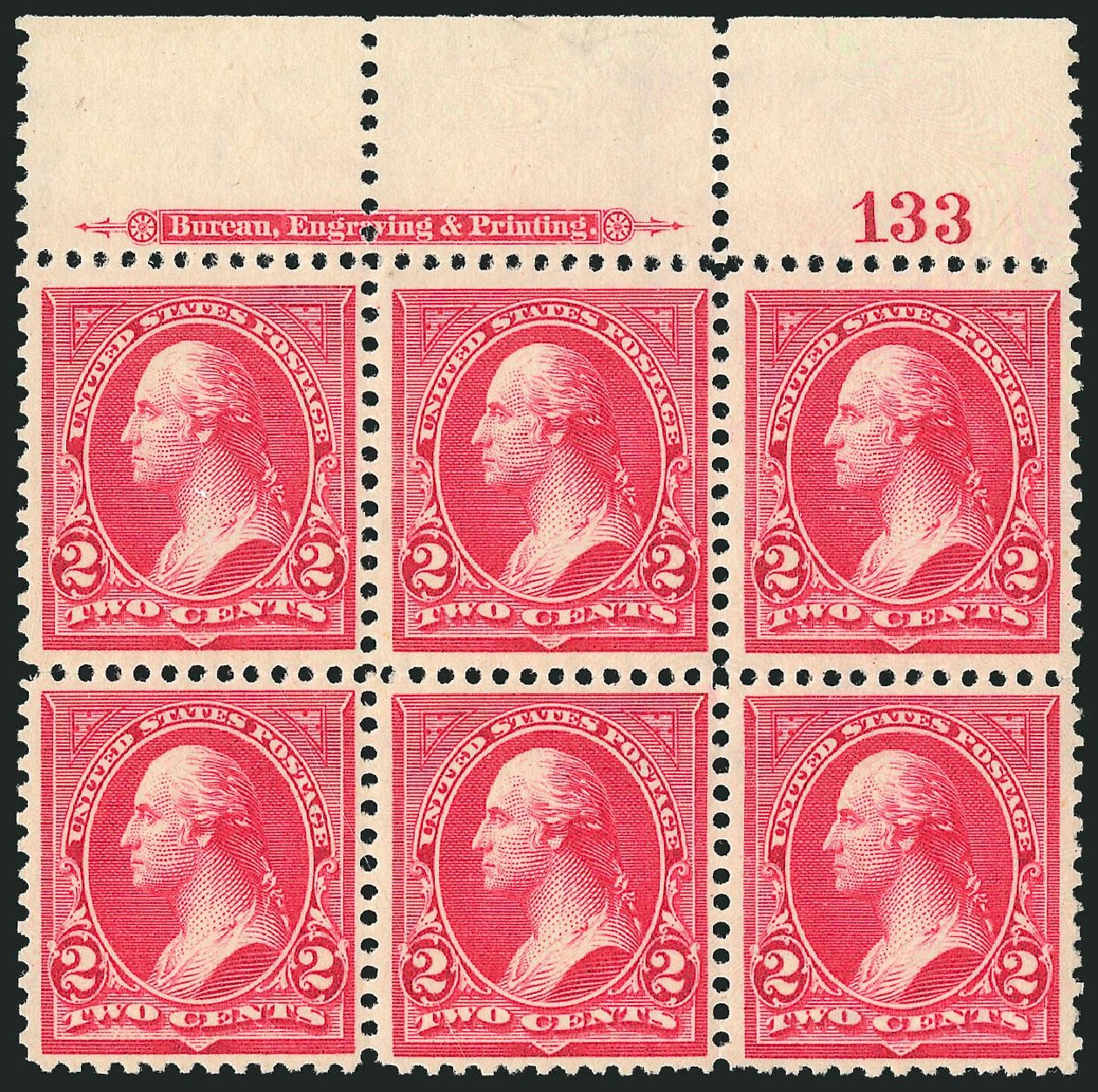Value of US Stamp Scott Cat. # 266 - 1895 2c Washington. Robert Siegel Auction Galleries, Nov 2014, Sale 1084, Lot 3596