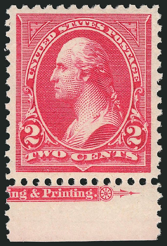 Value of US Stamps Scott Cat. #267 - 2c 1895 Washington. Robert Siegel Auction Galleries, Apr 2014, Sale 1068, Lot 197