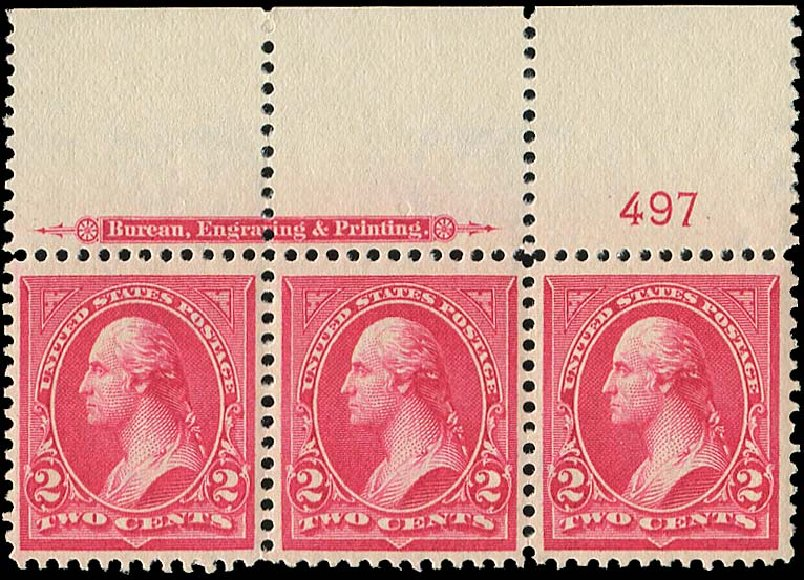 US Stamps Price Scott 267: 1895 2c Washington. Regency-Superior, Aug 2015, Sale 112, Lot 539