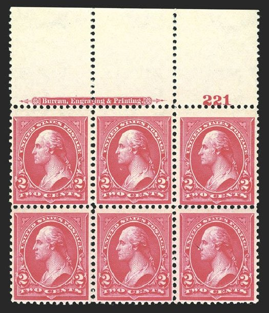 US Stamps Values Scott Catalogue # 267: 2c 1895 Washington. Spink Shreves Galleries, Mar 2013, Sale 142, Lot 261