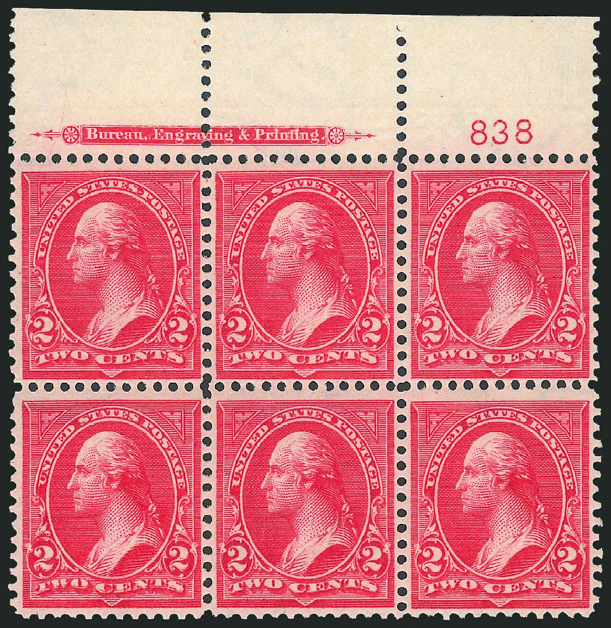 Values of US Stamps Scott Catalog #267 - 1895 2c Washington. Robert Siegel Auction Galleries, Dec 2012, Sale 1037, Lot 1886