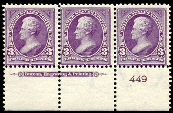 Costs of US Stamp Scott Catalog 268: 3c 1895 Jackson. Schuyler J. Rumsey Philatelic Auctions, Apr 2015, Sale 60, Lot 2747