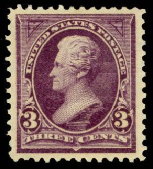 Costs of US Stamp Scott # 268: 1895 3c Jackson. Daniel Kelleher Auctions, Sep 2014, Sale 655, Lot 348