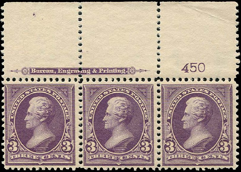US Stamp Values Scott Catalogue 268: 3c 1895 Jackson. Regency-Superior, Jan 2015, Sale 109, Lot 988