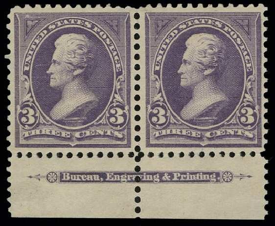 Values of US Stamp Scott Cat. # 268 - 1895 3c Jackson. H.R. Harmer, May 2014, Sale 3005, Lot 1195