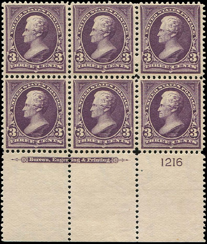 Prices of US Stamps Scott Catalog # 268: 3c 1895 Jackson. Regency-Superior, Aug 2015, Sale 112, Lot 1285