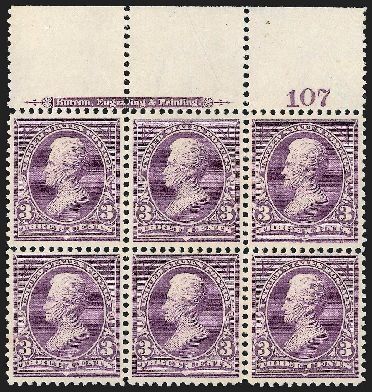 Prices of US Stamp Scott Catalogue 268 - 1895 3c Jackson. Robert Siegel Auction Galleries, Jul 2015, Sale 1107, Lot 355