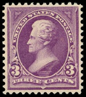 Value of US Stamps Scott Catalog 268: 3c 1895 Jackson. Daniel Kelleher Auctions, May 2014, Sale 653, Lot 2182