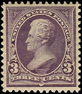 US Stamps Price Scott Catalogue # 268 - 1895 3c Jackson. Regency-Superior, Nov 2014, Sale 108, Lot 542