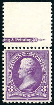 Price of US Stamp Scott 268 - 1895 3c Jackson. Schuyler J. Rumsey Philatelic Auctions, Apr 2015, Sale 60, Lot 2262