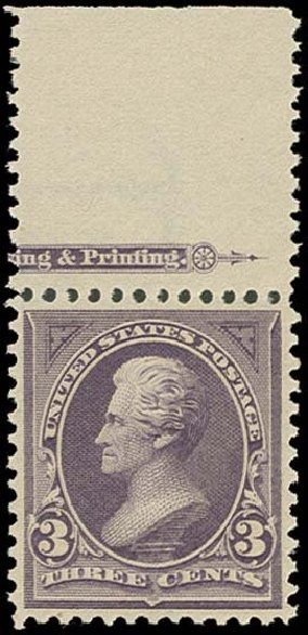 Cost of US Stamps Scott Catalog 268: 1895 3c Jackson. H.R. Harmer, Oct 2014, Sale 3006, Lot 1286