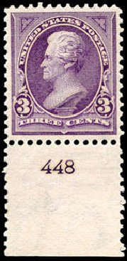 Costs of US Stamps Scott Cat. #268 - 3c 1895 Jackson. Schuyler J. Rumsey Philatelic Auctions, Apr 2015, Sale 60, Lot 2746
