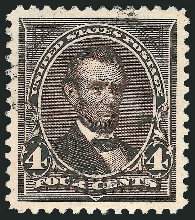 Costs of US Stamp Scott Cat. #269: 1895 4c Lincoln. Robert Siegel Auction Galleries, Nov 2014, Sale 1084, Lot 3598