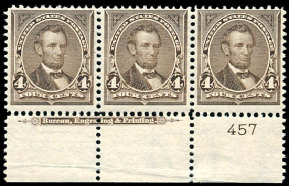 Cost of US Stamps Scott Catalog #269 - 4c 1895 Lincoln. Schuyler J. Rumsey Philatelic Auctions, Apr 2015, Sale 60, Lot 2749