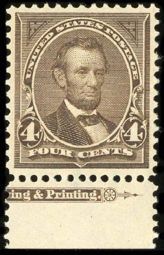 Cost of US Stamps Scott Cat. #269 - 4c 1895 Lincoln. Spink Shreves Galleries, Jul 2015, Sale 151, Lot 219