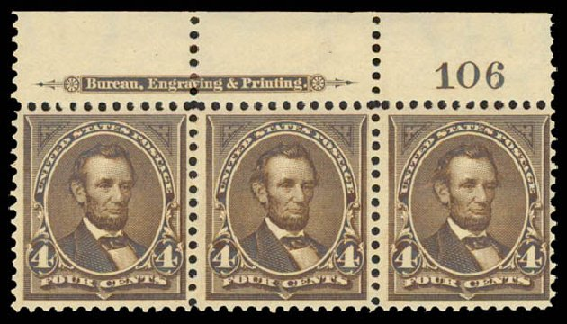 Value of US Stamp Scott Cat. #269 - 4c 1895 Lincoln. Daniel Kelleher Auctions, May 2015, Sale 669, Lot 2786