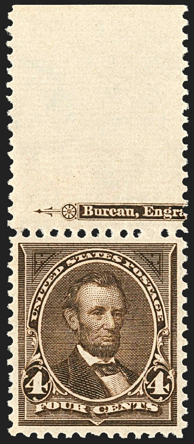 Cost of US Stamps Scott Cat. 269 - 1895 4c Lincoln. Robert Siegel Auction Galleries, Jul 2015, Sale 1107, Lot 356
