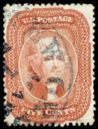 US Stamp Price Scott Catalogue 27: 5c 1858 Jefferson. Schuyler J. Rumsey Philatelic Auctions, Apr 2015, Sale 60, Lot 1975