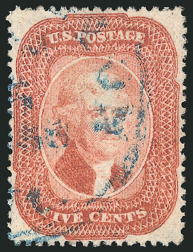 Price of US Stamp Scott Catalogue # 27 - 1858 5c Jefferson. Robert Siegel Auction Galleries, Apr 2015, Sale 1096, Lot 62