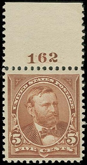 Values of US Stamp Scott Cat. #270: 1895 5c Grant. H.R. Harmer, Oct 2014, Sale 3006, Lot 1287