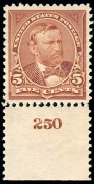 Prices of US Stamps Scott Catalog #270 - 5c 1895 Grant. Schuyler J. Rumsey Philatelic Auctions, Apr 2015, Sale 60, Lot 2750