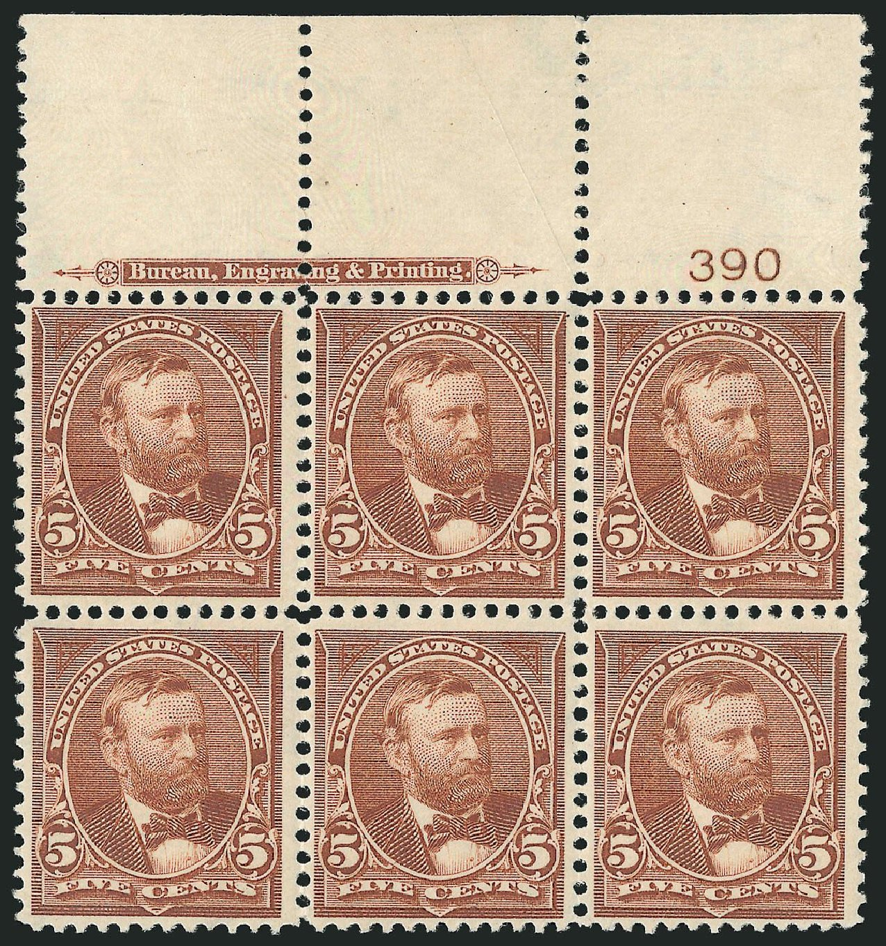 Prices of US Stamp Scott # 270 - 5c 1895 Grant. Robert Siegel Auction Galleries, Nov 2014, Sale 1084, Lot 3600