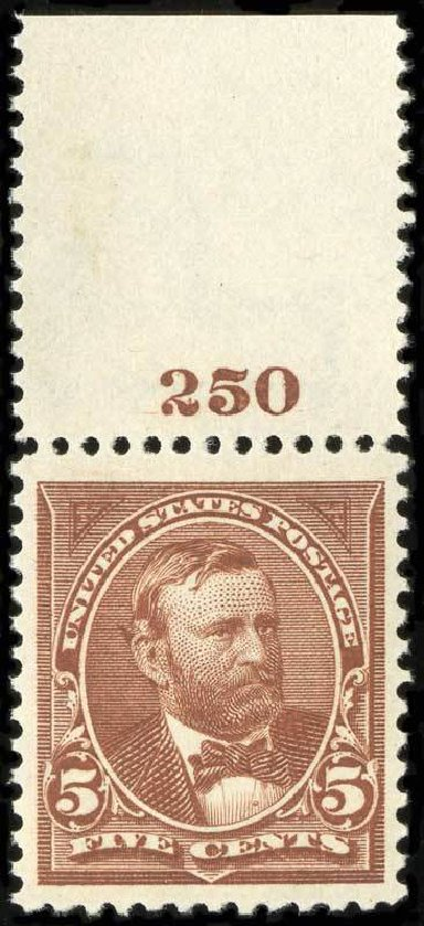 Price of US Stamps Scott Catalogue 270: 5c 1895 Grant. Spink Shreves Galleries, Jul 2015, Sale 151, Lot 220