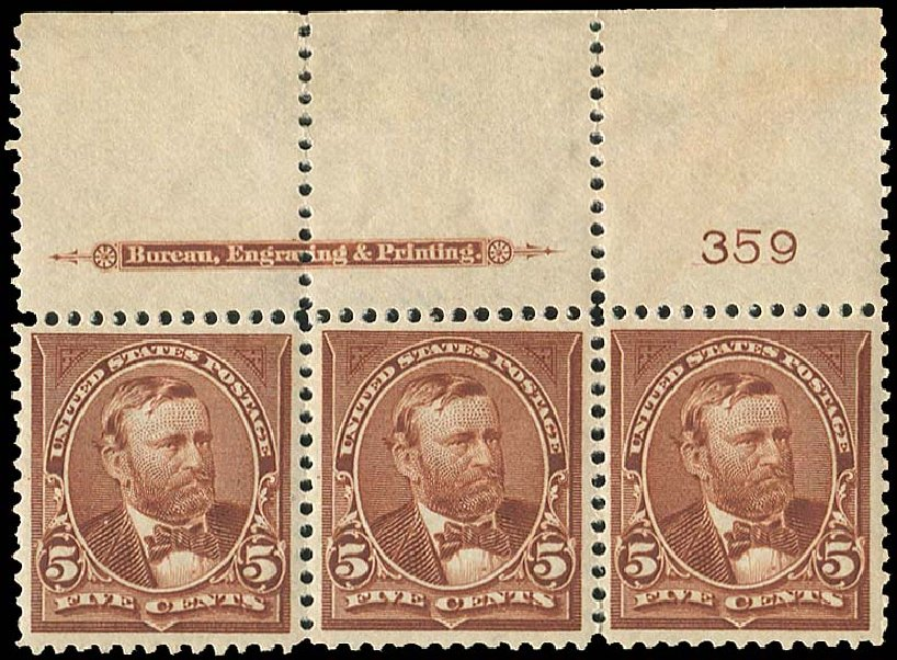 US Stamps Price Scott Catalog # 270: 5c 1895 Grant. Regency-Superior, Aug 2015, Sale 112, Lot 541