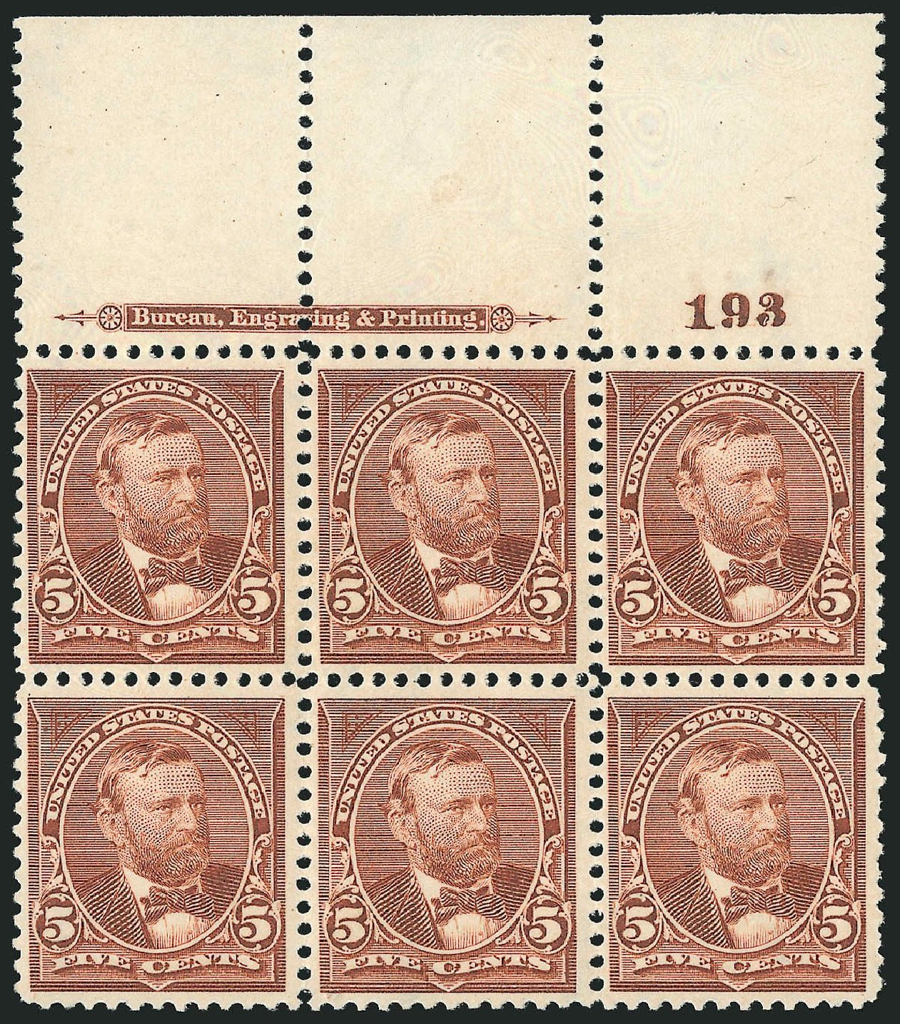 Cost of US Stamp Scott Cat. #270 - 1895 5c Grant. Robert Siegel Auction Galleries, Nov 2014, Sale 1084, Lot 3601