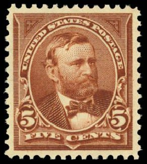 Prices of US Stamps Scott # 270: 5c 1895 Grant. Daniel Kelleher Auctions, May 2014, Sale 653, Lot 2184