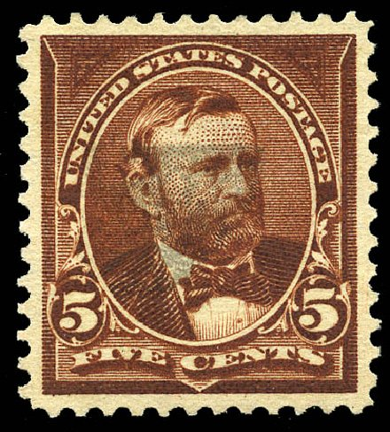US Stamps Values Scott Catalog # 270 - 5c 1895 Grant. Matthew Bennett International, May 2014, Sale 350, Lot 395