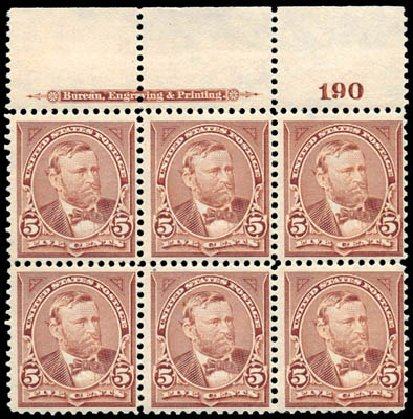 Value of US Stamps Scott #270 - 1895 5c Grant. Schuyler J. Rumsey Philatelic Auctions, Apr 2015, Sale 60, Lot 2885