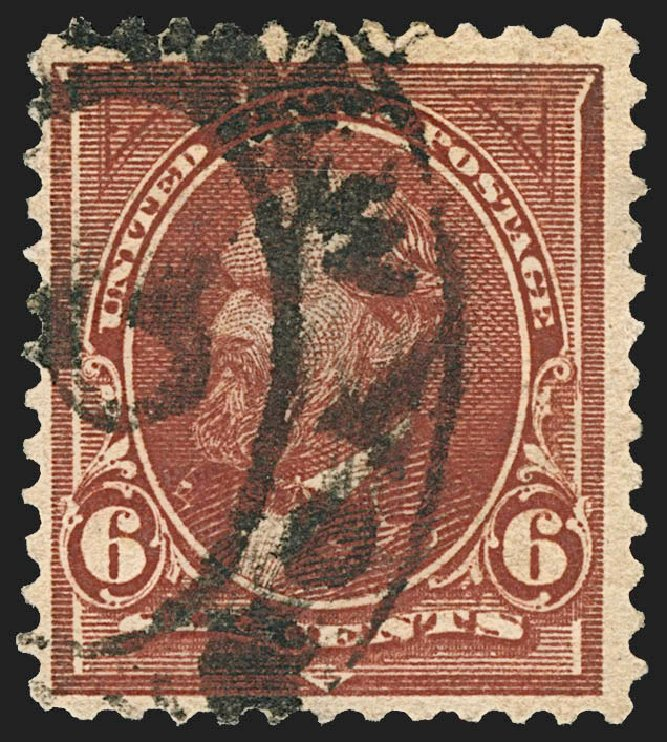 Value of US Stamp Scott Catalogue # 271: 6c 1895 Garfield. Robert Siegel Auction Galleries, Jul 2015, Sale 1107, Lot 357