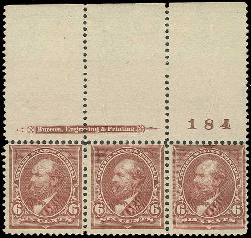 US Stamps Values Scott Cat. #271 - 6c 1895 Garfield. H.R. Harmer, Oct 2014, Sale 3006, Lot 1288