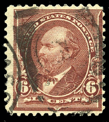 Value of US Stamps Scott Catalog #271 - 1895 6c Garfield. Matthew Bennett International, Feb 2015, Sale 351, Lot 151
