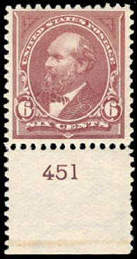 Costs of US Stamps Scott Catalogue #271: 1895 6c Garfield. Schuyler J. Rumsey Philatelic Auctions, Apr 2015, Sale 60, Lot 2751