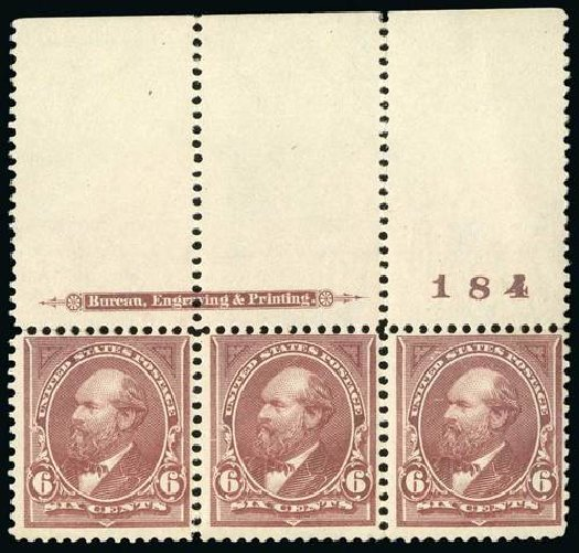 Price of US Stamps Scott Catalog # 271: 6c 1895 Garfield. Spink Shreves Galleries, Jul 2015, Sale 151, Lot 221